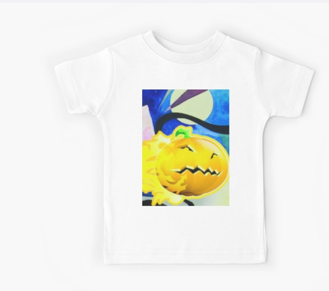 child white jack o lantern t shirt