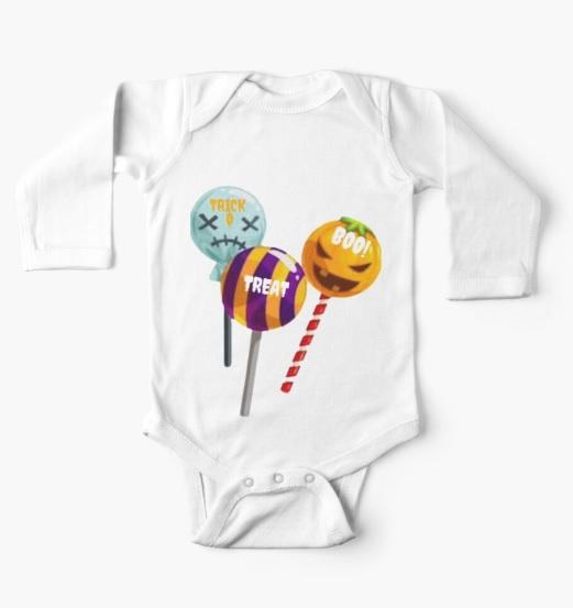 infant lollipop long sleeve onsie