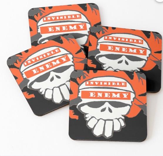 Halloween skull coasters