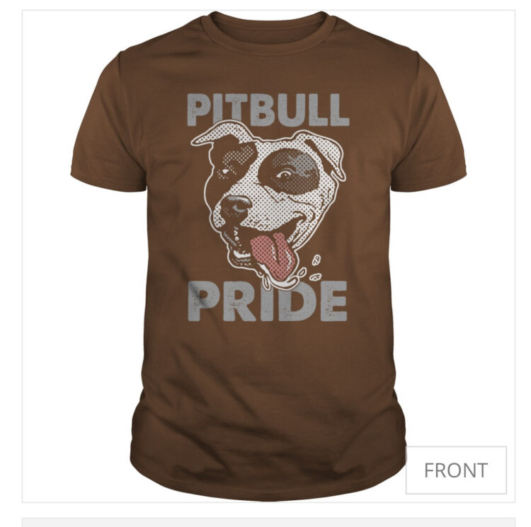 pet owners pit bull tshirt