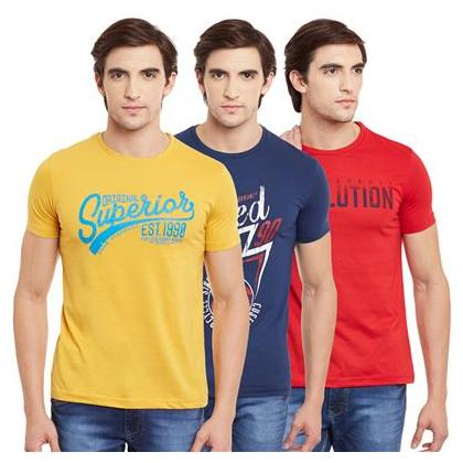 Buy Duke Men Regular Fit Round Neck Printed T-Shirt – Multi Online at Low Prices in India – Paytmmall.com