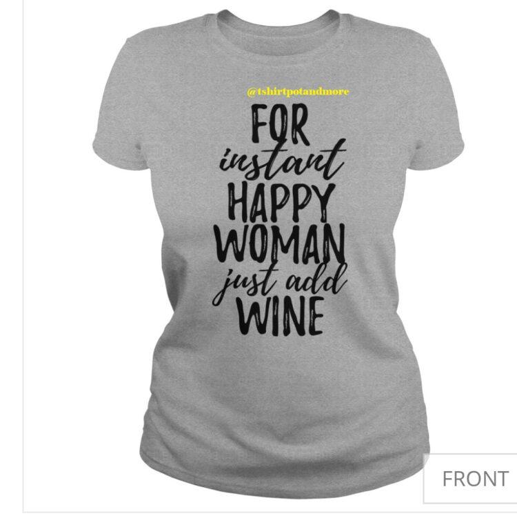 happy woman tshirt