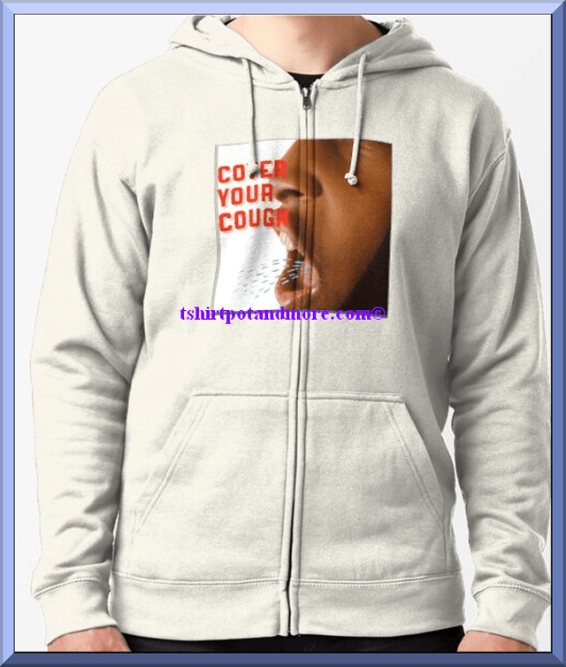 """cover your cough graphic "" Hoody by holymaud 
