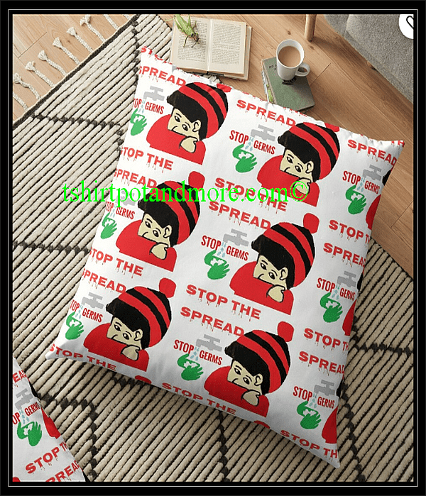"""stop the spread "" Floor Pillow by Holymaud 