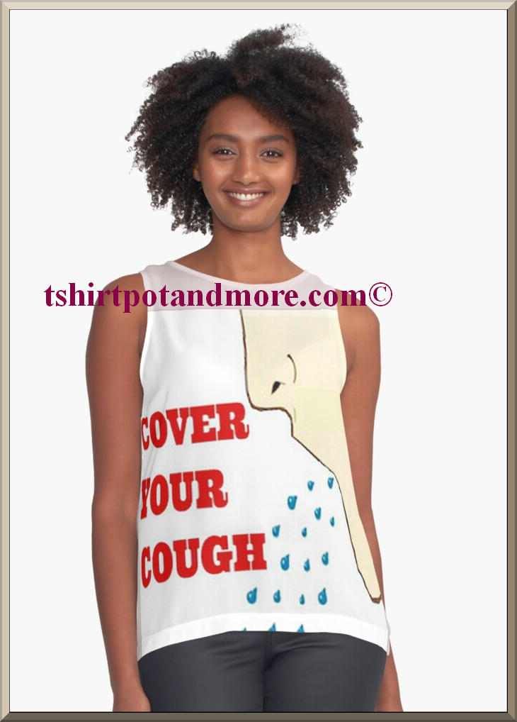 """cover your cough print blouse"" by holymaud 