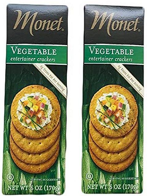 monet vegetable entertainment crackers